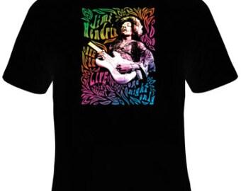 Jimi Hendrix Live Neon T-Shirt Women's Sizes