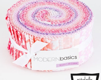 Michael Miller Modern Basics Bloom Jelly Roll - 45 Pieces