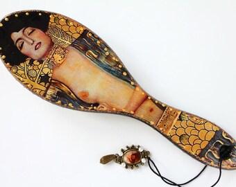 Klimt Comb Klimt Judith Decorated Wooden Hairbrush Etsy Gift For Women  gift wife, gift, gift for women, women's jewelry box, for women