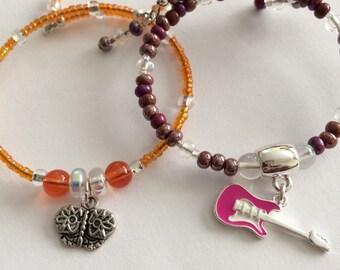 Girls Charm Bracelet, Children's bracelets, Girls Butterfly Bracelet, Little Girls Jewelry, kids stocking stuffers, gift for girls, Jewelry