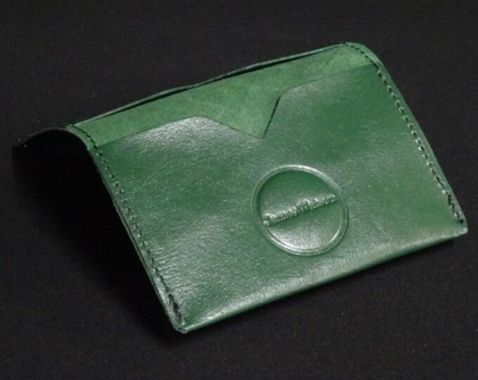 Bantam Wallet - Green - Kangaroo leather with RFID Credit Card Blocking - James Watson