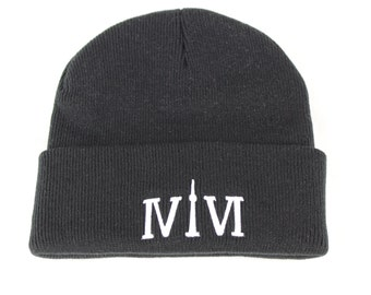 """Classic Black Toronto 416 Beanies. The Roman Numerals Stand For 416, With The """"1"""" Resembling The CN Tower."""