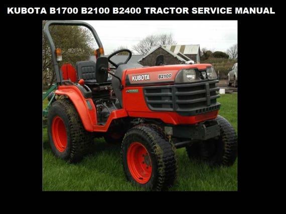kubota kubota tractor model b1550 b1750 parts manual