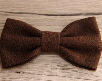 Bowtie , men's bow tie , bow tie , dark brown bow tie , brown bow tie , leather bow tie , cheap bowties , brown leather bowtie , dog bowtie