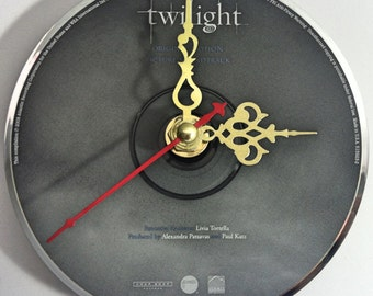 CD Clock Twilight Soundtrack Handmade Clock FREE U.S. SHIPPING