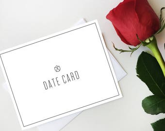 Rose Date Card Notecard, Digital Postcard, Bachelorette Date Card Art, Bachelor Date Card, Digital Download, Printable Card, Most Popular