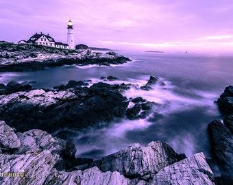 Maine, New England, Lighthouse Decor, Maine Art, Maine Gifts, Lighthouse Photography, Maine Lighthouse, Cape Elizabeth, Portland Head Light