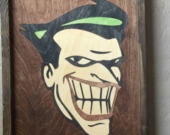 The Joker Wooden Inlay Wall Art