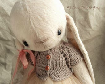 Collectible Bunny Fiona, artist teddy bunny, teddy bear, teddy toys, interior doll