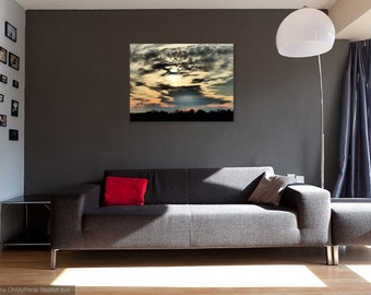 Dark Cloudy Skies, Wall Art, Canvas Print