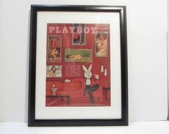 Vintage Playboy Magazine Cover Matted Framed : January 1963 -