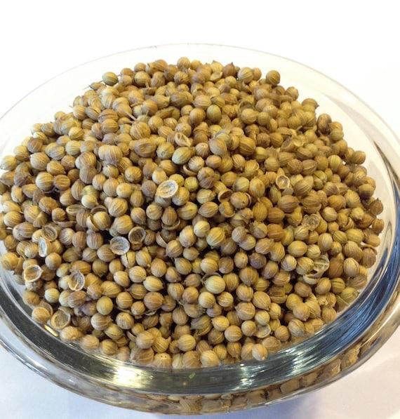 1 lb whole Organic Coriander Seed  no sulfites, no preservatives no soy no gluten