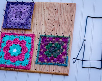 "BlocksAll 12"" Adjustable Afghan Granny Square Combination EZBlocker From Chetnanigans"