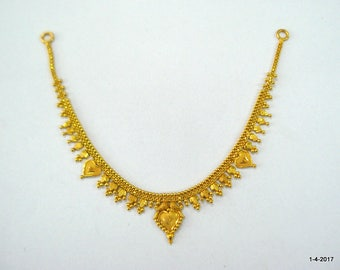 ethnic 20kt gold necklace choker traditional handmade jewelry