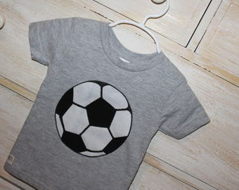 Be a sport! Soccer appliqued onesie or t-shirt