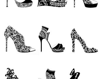 Fashion Shoe Greeting Card