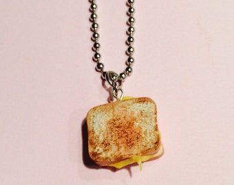 Miniature Grilled Cheese Sandwich Necklace