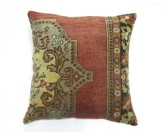 Turkish Oushak Rug FLOOR Pillow 24''X24''