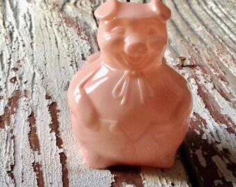 pig bank pink plastic/vintage midwest promotional bank