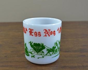 Vintage Hazel Atlas Milk Glass Egg Nog Mug