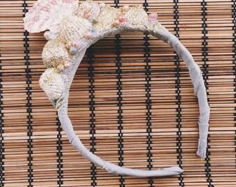 Handmade Glitter Shell Crown