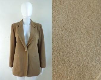 40%offAug15-17 felted wool & cashmere blazer size small 6, brown 80s minimalist blazer jacket, 1980s womens blazer, womens jacket