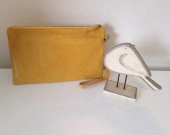 New Zealand Leather Wristlet Purse