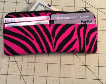 Pink Zebra Card Wallet