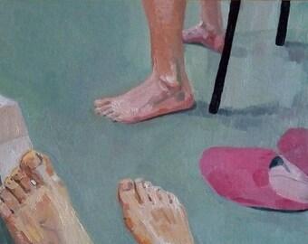 "Oil painting ""Legs"""