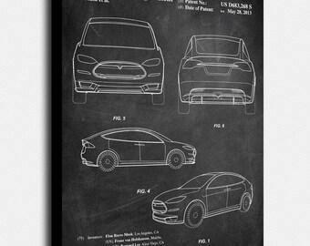 Tesla model s poster etsy tesla model s canvas print tesla model s patent vintage art blueprint malvernweather Gallery
