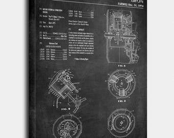 Rotary Internal Combustion Engine Canvas, Rotary Patent, Rotary Vintage, Rotary  Blueprint, Rotary Print, Rotary Prints, Rotary Wall Art