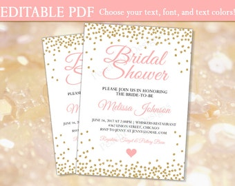 Bridal Shower Invitation (INSTANT DOWNLOAD)   Bridal Shower Invites   Bridal  Shower Invitation Template  Bridal Shower Template