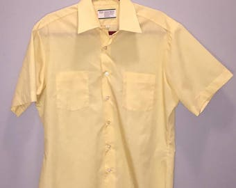 Vintage 70's Oxford Shirt / size XL / by Sears