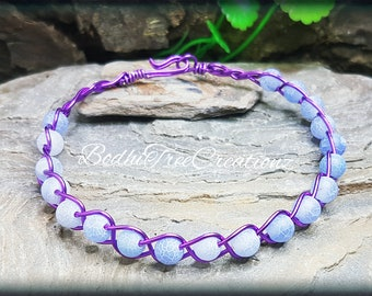 Dragons vein agate beaded Handwired bracelet