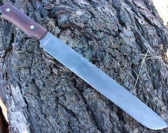 Big Chopping Bushcraft Knife Zombie Apocalypse Blade Williams Built Custom Handmade Survival Fire Creek Forge