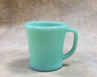 Anchor Hocking Fire-King Mug D Handle, 1950s, Fire King Coffee Cup Milk Glass