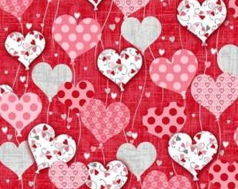 Dear Heart, Valentines Fabric, Valentines Day, Sweetheart Fabric, Hear Fabric, by Studio-e, 3588