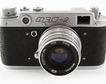 FED 2 Russian Soviet 35mm Film Leica Copy Rangefinder Camera Industar-26m Lens