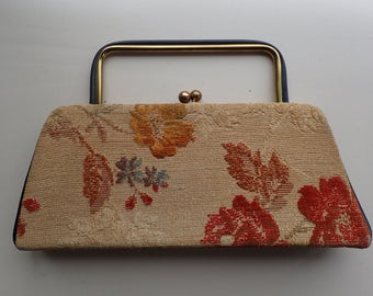 1960's Foral Tapestry / Carpet Handbag  Excellent Condition!