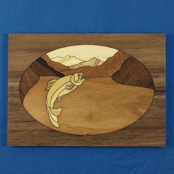 "Marquetry Project Kit - 5""x 7"" Trout"