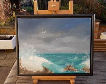 Seagull Commute  - Original oil painting