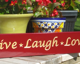 Live Love Laugh Wall Art Wood Home Decor Sign