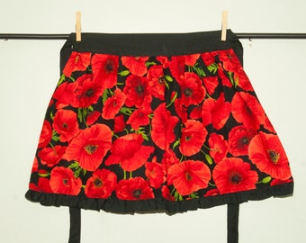 Children's red flower Apron