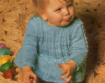 Vintage Baby Angel Top Knitting Pattern, Vintage Baby Knickers Knitting Pattern, Emu Knitting Pattern