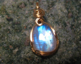 Rainbow Moonstone in 14K Gold Filled Wire