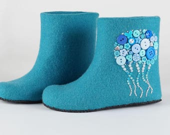 "Children slippers ""In the Blue Sea"""
