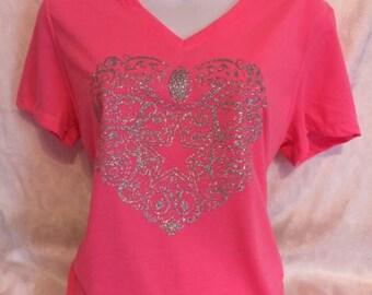 Pink Dallas cowboy style t-shirt