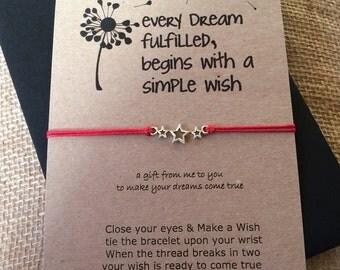 Wish String Bracelet - Star Charm - Every Dream.....