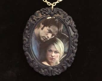 True Blood Sookie and Bill cameo necklace