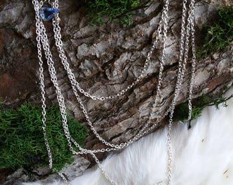 Earrings, Bellydance, Oriental, LARP, Silver, Blue, Crystal, Boho, Vintage, filigree, Fairy, Elven, Fantasy